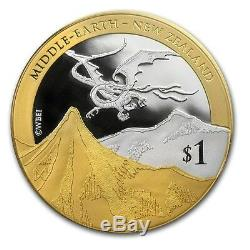 New Zealand Hobbit Set- 2013 Silver $1 Proof Coin- 1 OZ Desolation of Smaug