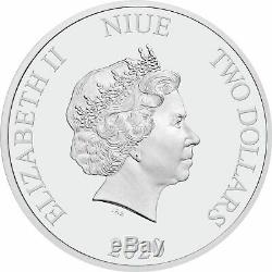 Niue 2020 1 OZ Silver Proof Coin Star Wars Death Star