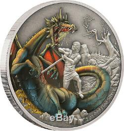 Niue 2020 2 OZ Silver Proof Coin- Dragons The Norse Dragon