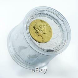 Niue 50 dollars Fortuna Redux Mercury silver gilded proof coin 2013