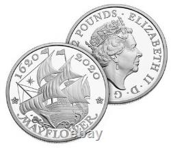 PRESALE 400th Anniversary of the Mayflower Voyage Silver Proof Coin & Medal Set