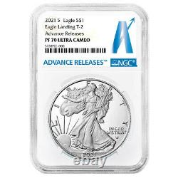 Presale 2021-S Proof $1 Type 2 American Silver Eagle NGC PF70UC AR Advance Rel