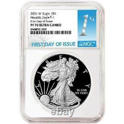 Presale 2021-W Proof $1 American Silver Eagle NGC PF70UC FDI First Label