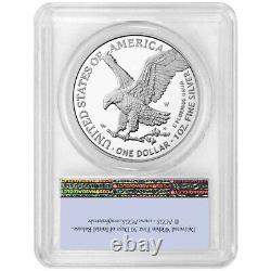Presale 2021-W Proof $1 Type 2 American Silver Eagle PCGS PR69DCAM FS Flag Lab
