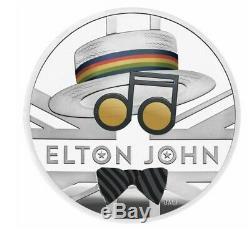 Royal Mint Elton John 2020 Uk One 1 Oz Ounce Silver Proof Coin 7500 Sold Out