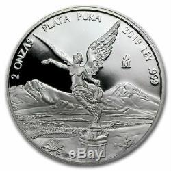 SALE PROOF LIBERTAD MEXICO 2019 2 oz Proof Silver Coin in Capsule