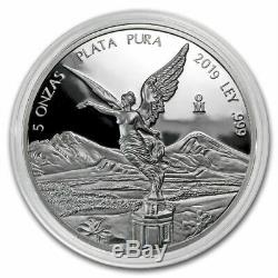 SALE PROOF LIBERTAD MEXICO 2019 5 oz Proof Silver Coin in Capsule