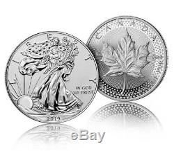 SOLD OUT Pride of Two Nations Coin Set 2019 W Enh Rev Pr Silver Eagle & Canadian