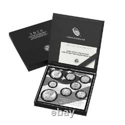 Sale Price 2020 S 2.5 oz US Mint Limited Edition Proof Silver 8-Coin Set. 999
