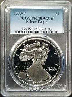 Set of 39 Silver Eagle Coins 1986 2019 Complete Proof Set PR70DCAM PCGS