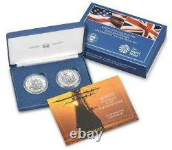 Silver 400th Anniversary of the Mayflower Voyage Silver Proof Coin and Medal Set