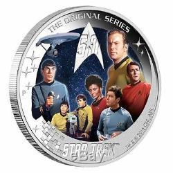 Star Trek U. S. S. Enterprise NCC-1701 Crew 2016 2oz Silver Proof Coin