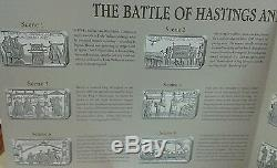 The Battle of HASTINGS Anniversary book set 12 silver proof 50p coins