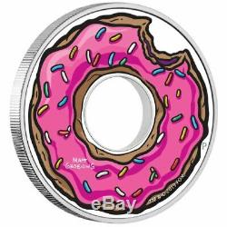 The Simpsons Holey Donut 2019 1oz Silver Proof Coin Perth Mint