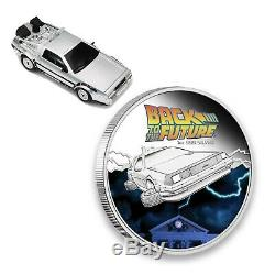 Tuvalu 2015 Back to the Future 1oz Pure Silver Proof Coin With Car Packaging PM